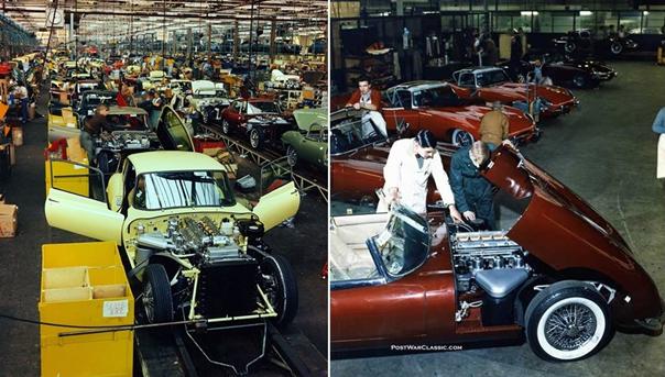 Fotografías del ensamblaje del Jaguar E-Type en Coventry a mediados de la década de 1960 (Foto: PostWarClassic.com)