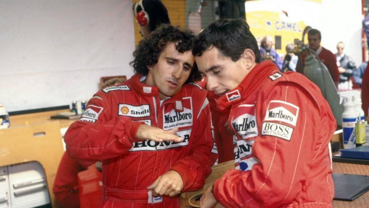 Senna y Prost compañeros en McLaren