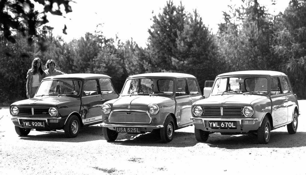 Mini 1275 GT, Mini 1000 y Mini Clubman '1973
