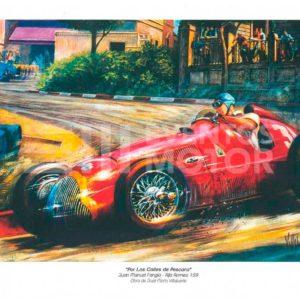 ilustracion Fangio Alfa Romeo 159