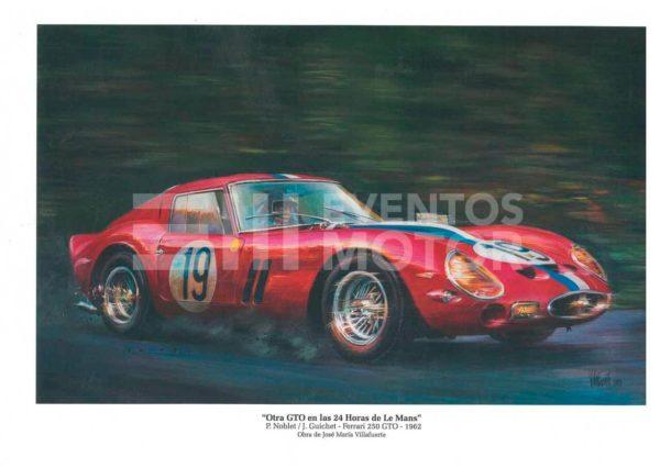 ilustracion ferrari clasico 24 horas de Le Mans