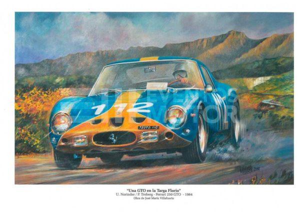 ilustracion Ferrari clasico Targa florio