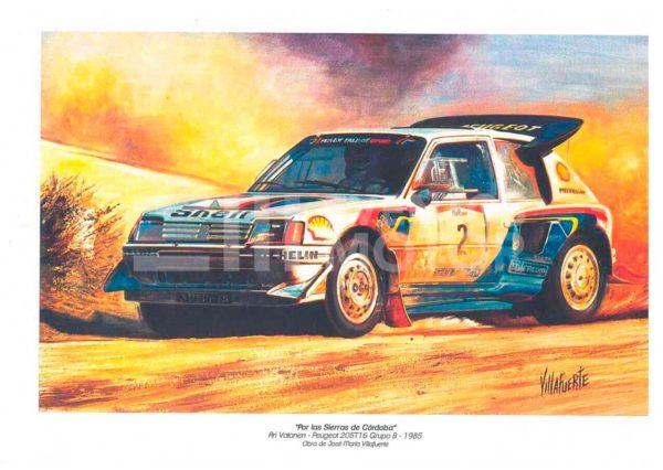 ilustracion Ari Vatanen grupo b 1985