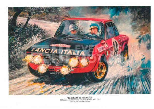 ilustracion Lancia fulvia 1972