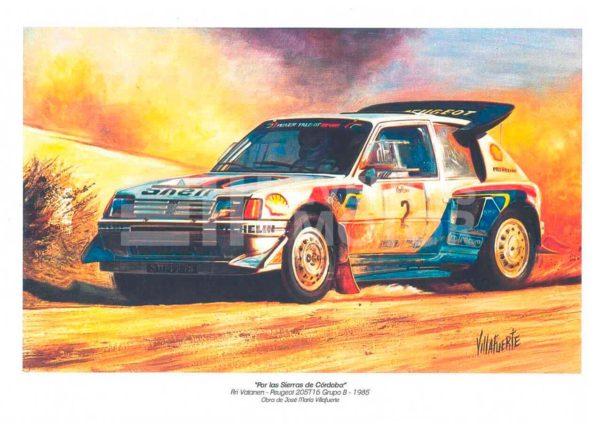 pintura rally grupo B Peugeot 205