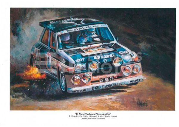 Ilustracion renault 5 maxi turbo