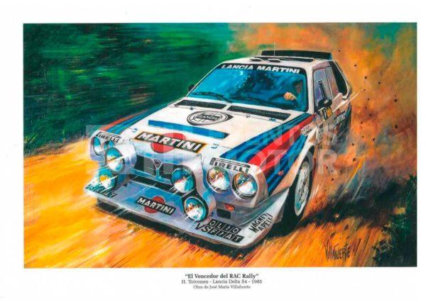 ilustracion rally grupo B Lancia Delta S4