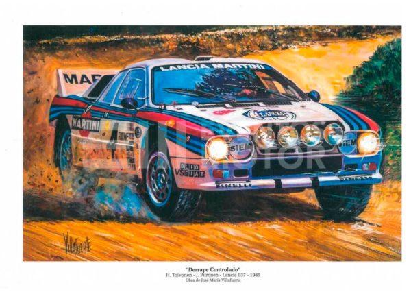 ilustracion rally grupo B Lancia 037