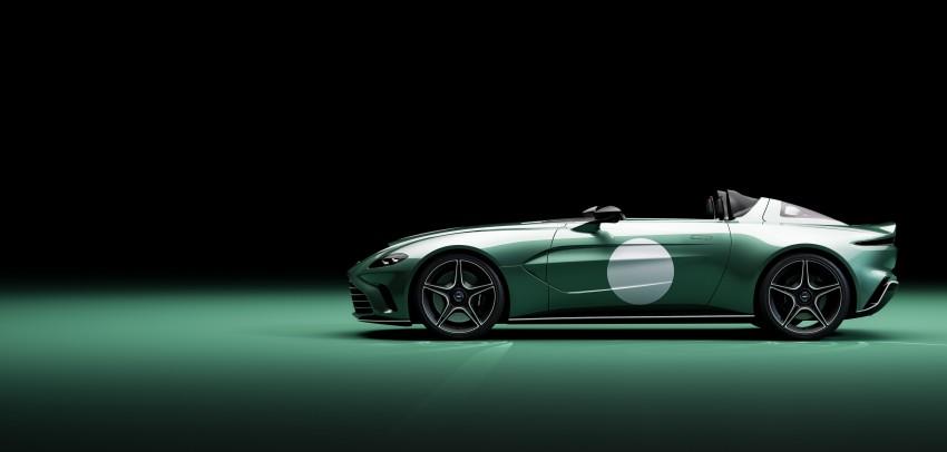 Perfil aerodinámico del Aston Martin Speedster V12 DBR1 Limited Edition,