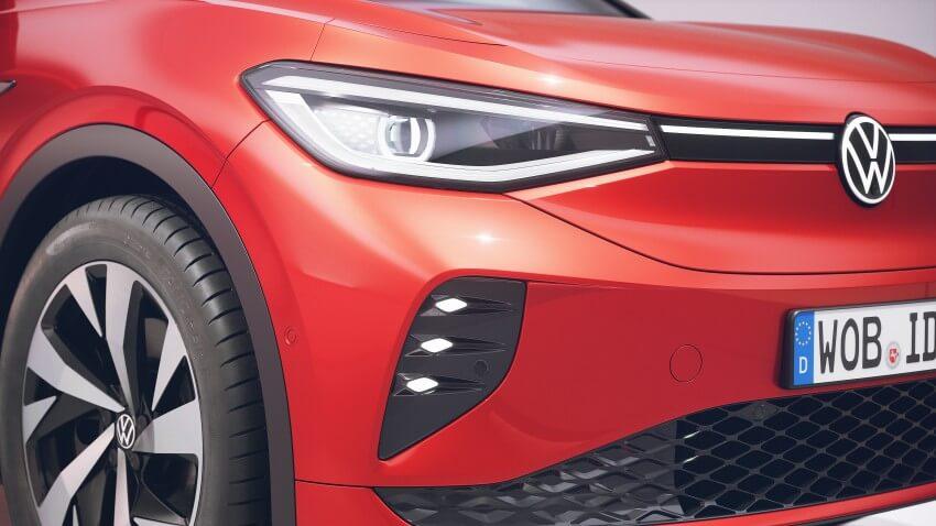 Detalle foco delantero del Volkswagen ID.4 GTX