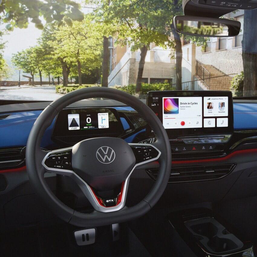 interior del Volkswagen ID.4 GTX