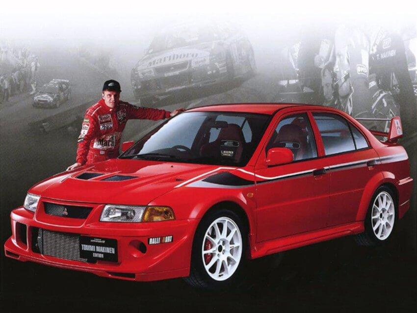 Tommi Mäkinen ganó 4 campeonatos del mundo de rallys con Mitsubishi Lancer