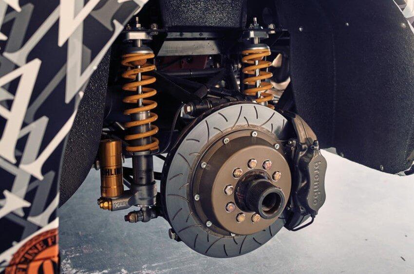 Sistema de frenos y suspensiones del Ferrari Testarossa de Officine Fioravanti