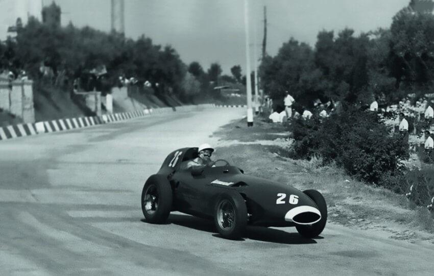 Stirling Moss en Pescara 1957