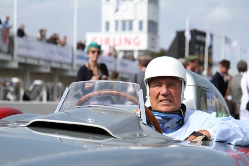 Stirling Moss en una exhibición reciente en Goodwood Festival