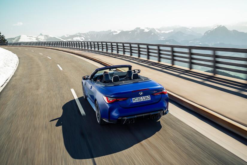 BMW M4 Competition Cabrio desde arriba