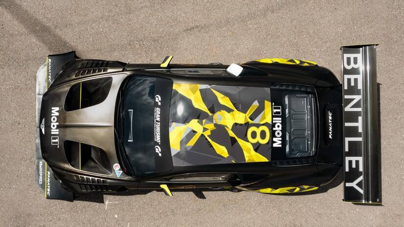 Bentley Continental GT3 Pikes Peak desde arriba