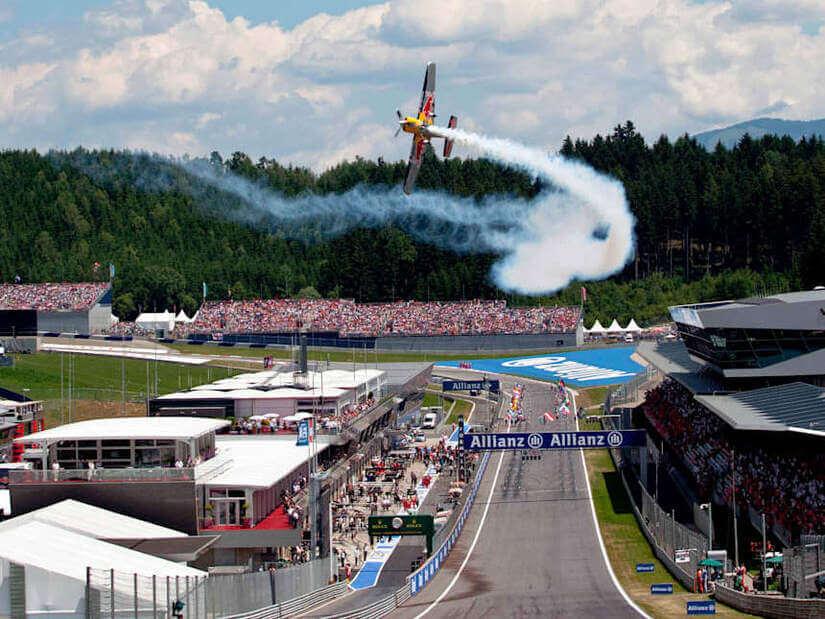 La F1 en Zeltweg espectáculo aéreo
