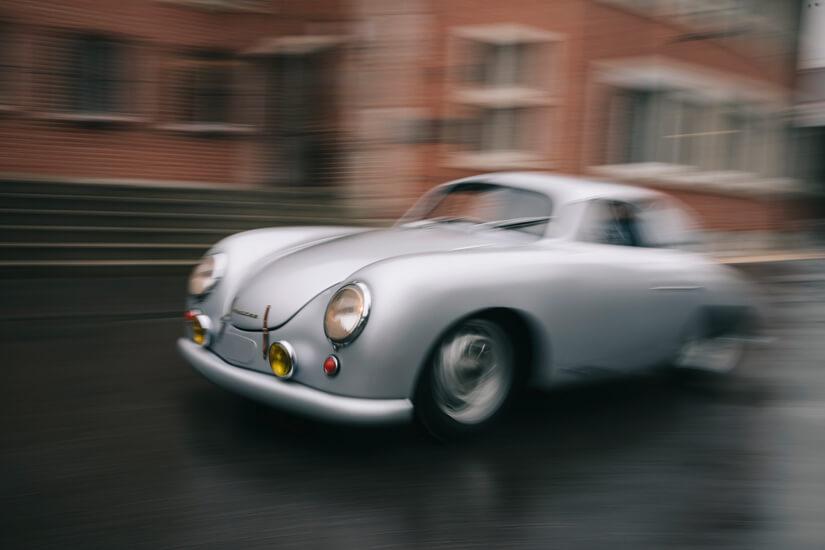 Porsche en Le Mans morro