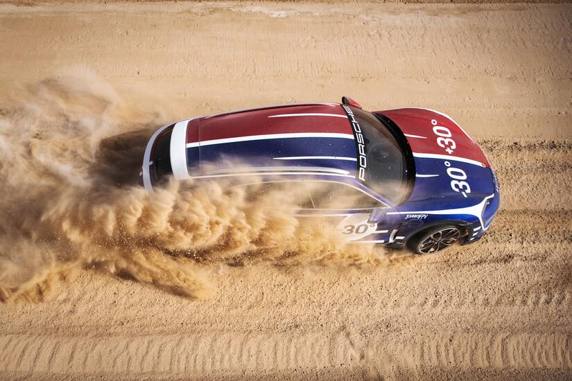 Porsche Taycan Turbo Cross Turismo cenital