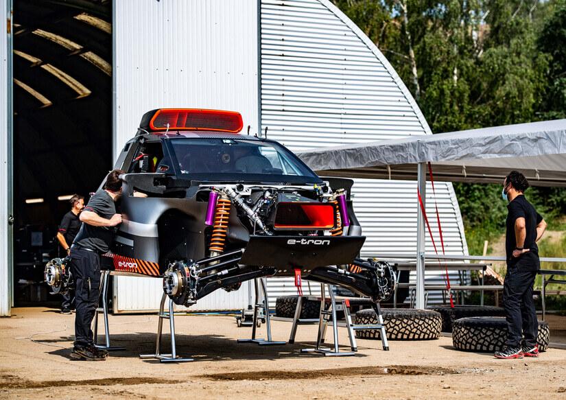 Audi RS Q e-Tron en potro