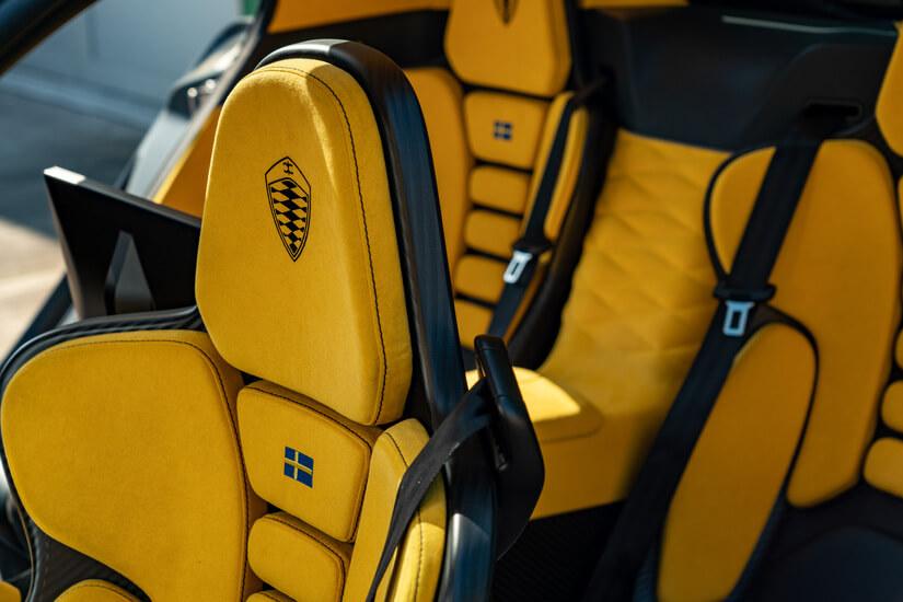 Koenigsegg Gemera asientos