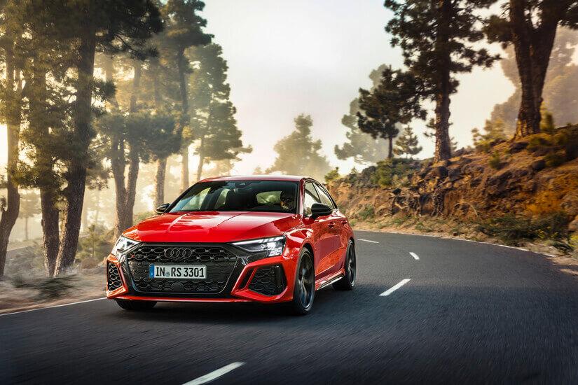 Audi RS 3 en rojo