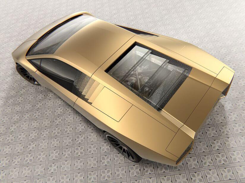 Lamborghini Countach cenital
