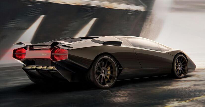 Lamborghini Countach trasera