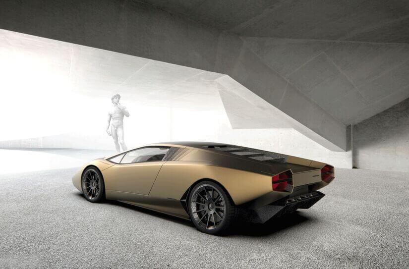 Lamborghini Countach trasera lateral