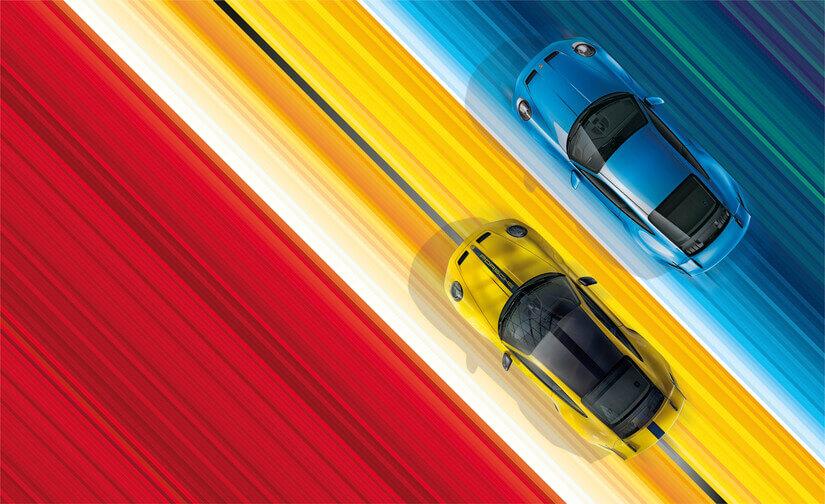 Porsche 911 GT3 aerea