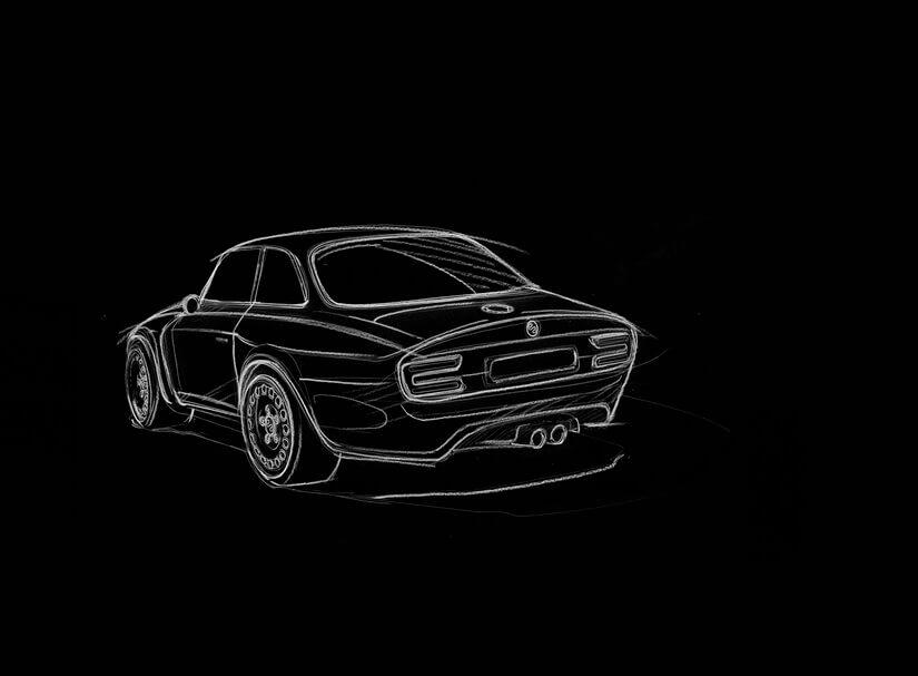 Alfa Romeo Emilia Veloce boceto 2