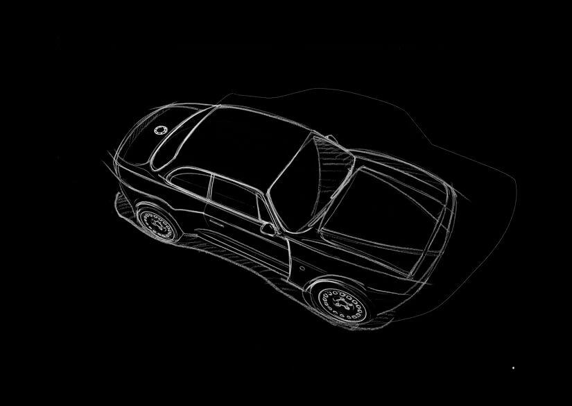 Alfa Romeo Emilia Veloce boceto q