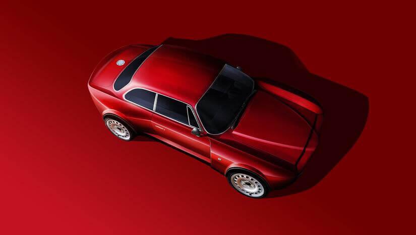 Alfa Romeo Emilia Veloce desde arriba